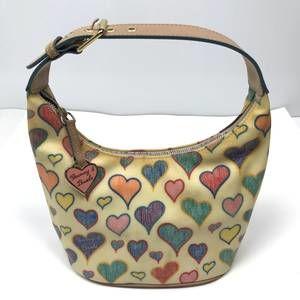 Dooney & Bourke Vintage Bitsy Hearts Hand Bag
